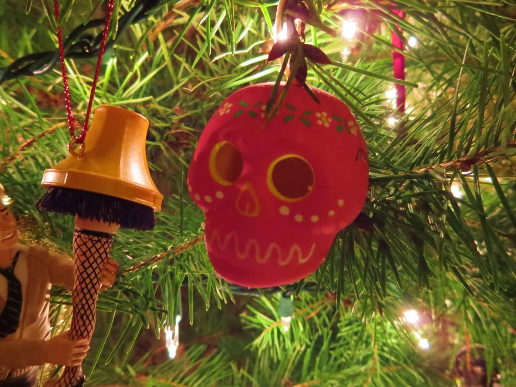 sugar skull Christmas ornament from Mexico