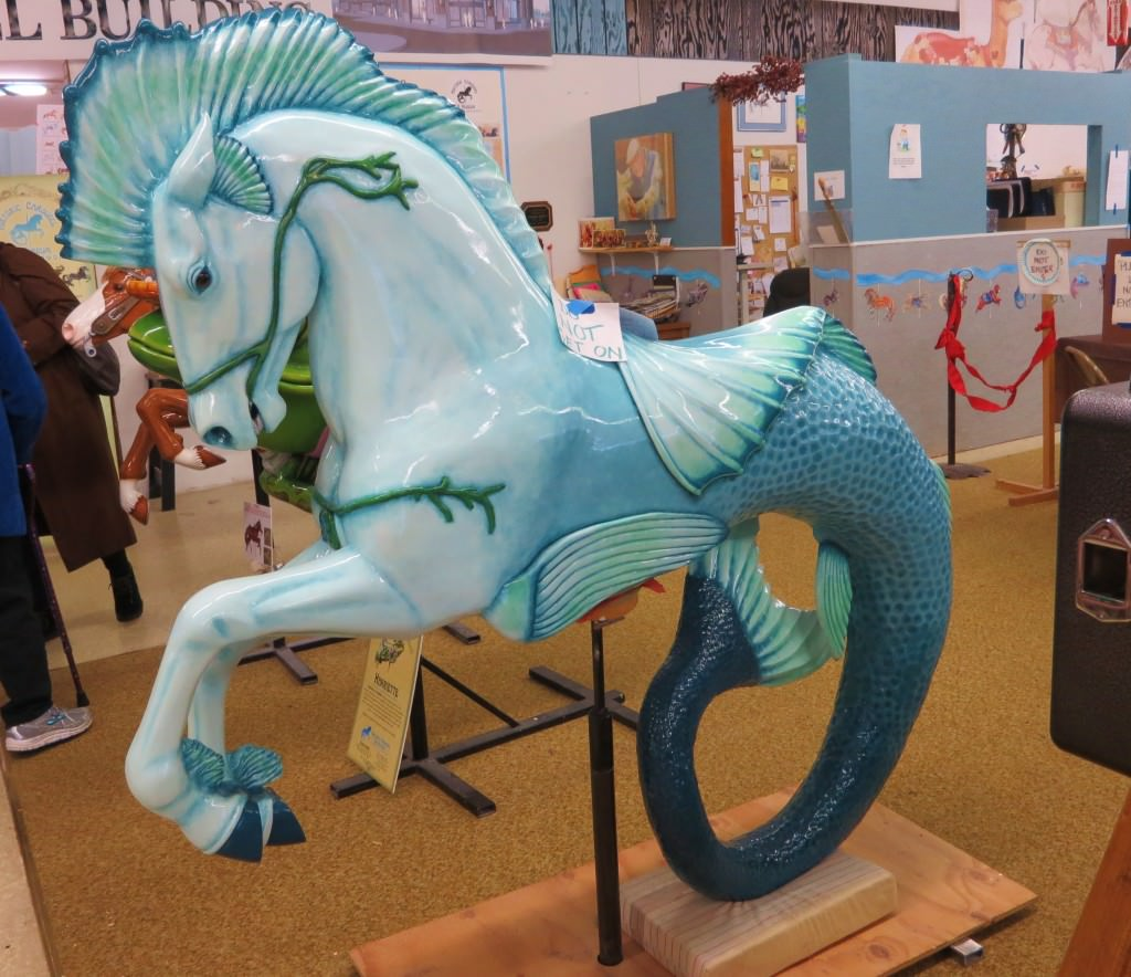Albany historic carousel museum Oregon seahorse