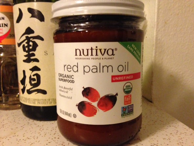 Red palm oil for moqueca