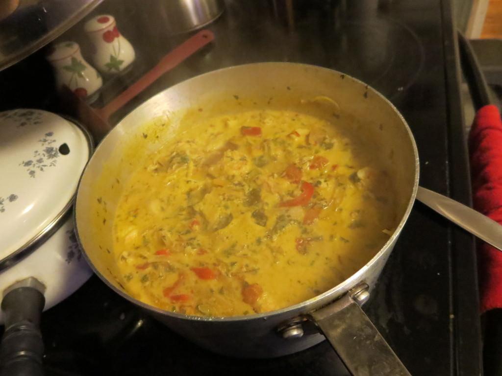 how to make Moqueca, ready to serve