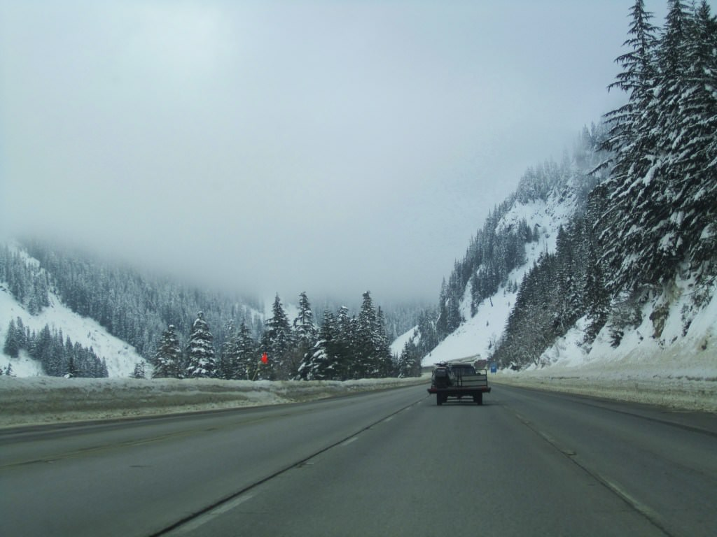 I-90 heading to Snoqualmie Pass