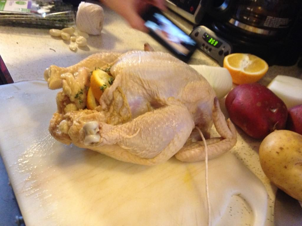 maple and apple cider brined roast chicken recipe