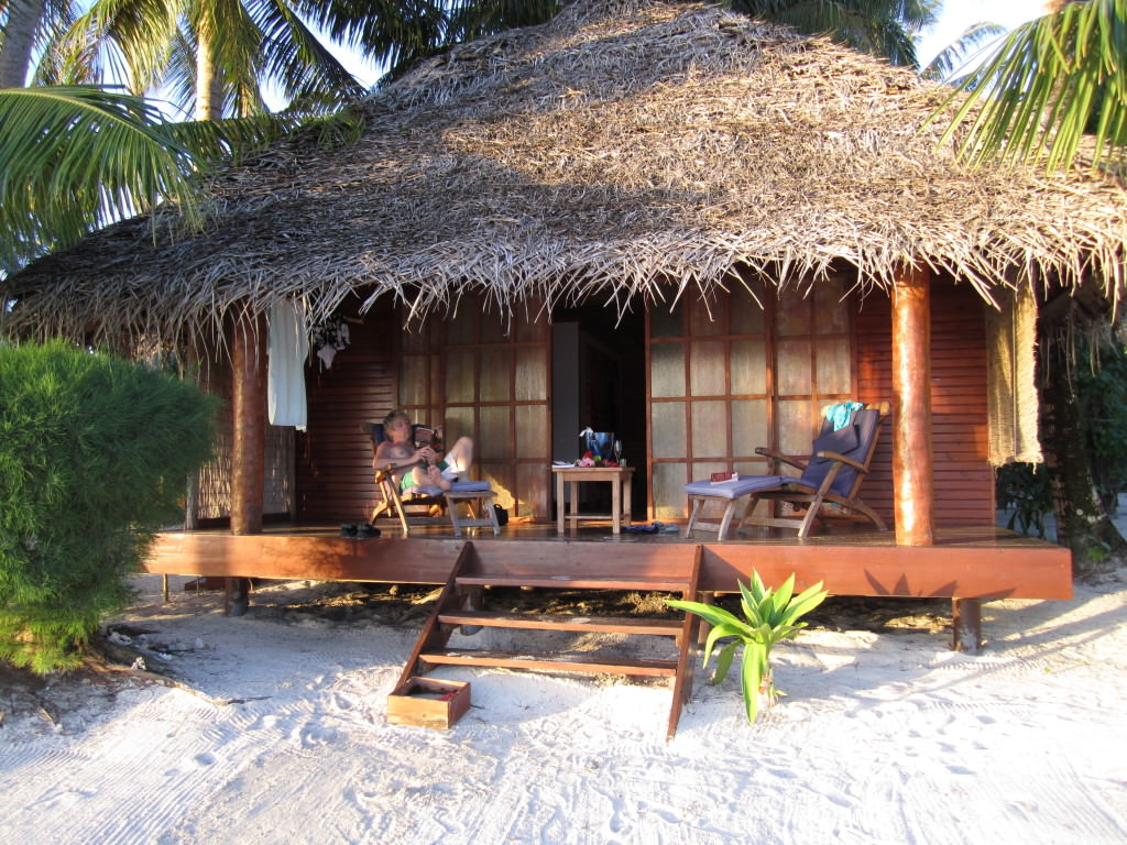 Our bungalow on the Tahaa motu Tahiti honeymoon romantic getaways