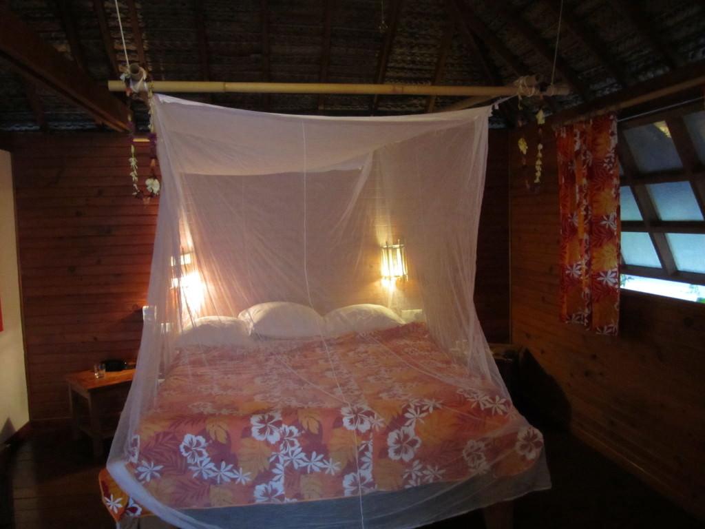 Our bungalow on the Taha'a motu Tahiti honeymoon romantic getaways