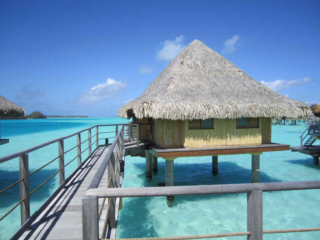 Our overwater bungalow at the Intercontinental Bora Bora honeymoon