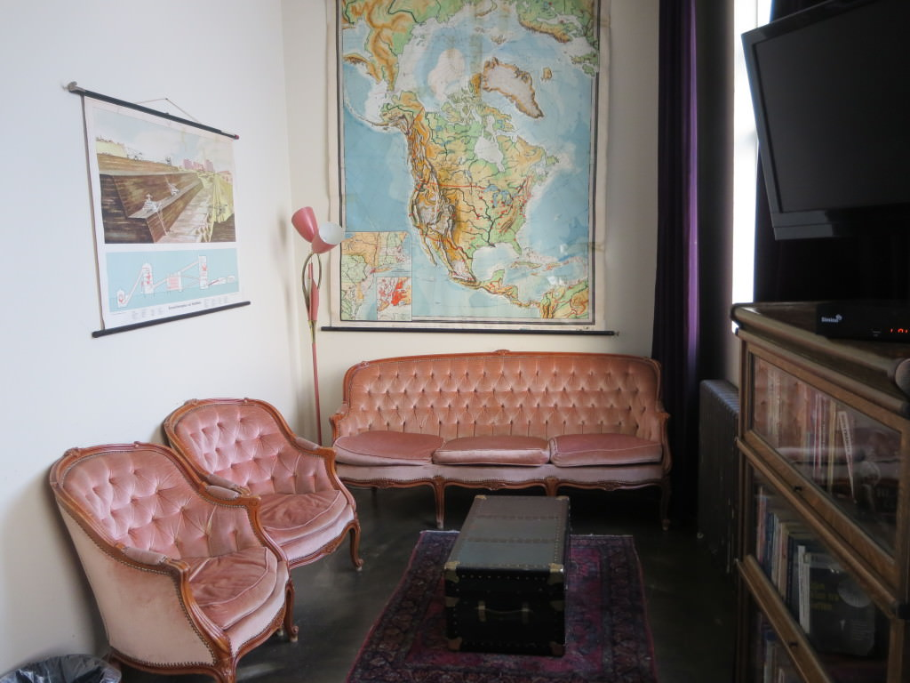 Our private room at Kex Hostel Reykjavik Iceland
