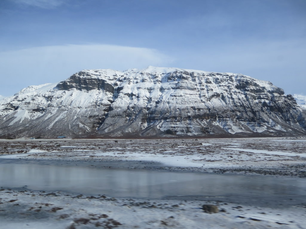 Glacier on the southern ring road, Iceland