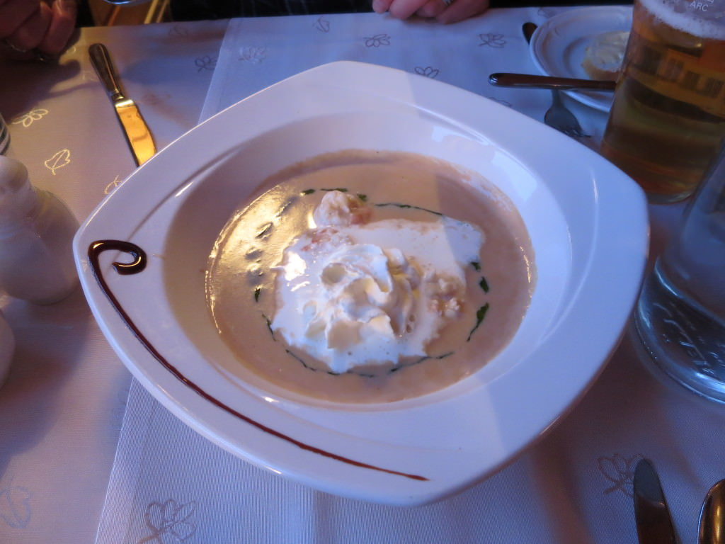 The best lobster soup ever at Salthusid