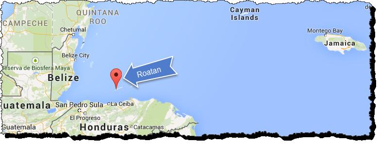 Roatan-Map