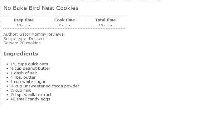 chocolate peanut butter birds nest cookies