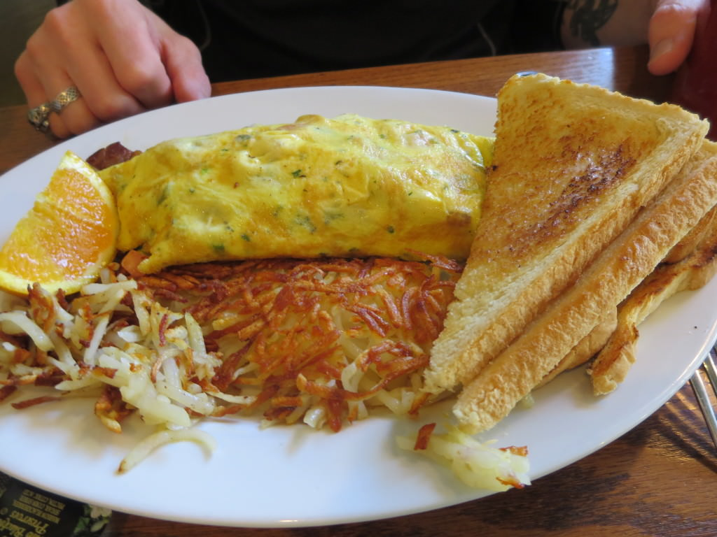 Montrachet omelette at First Street Haven Port Angeles