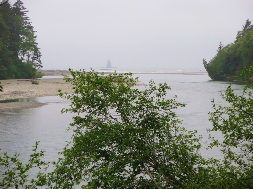Hoh River meets the Pacific Ocean