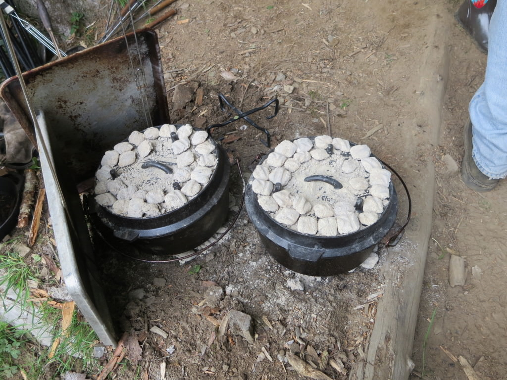 Camping Dutch oven cooking