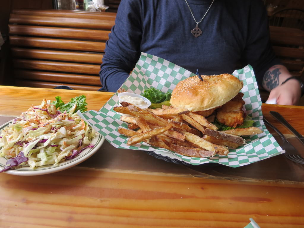 Snug Harbor Cafe fish burger