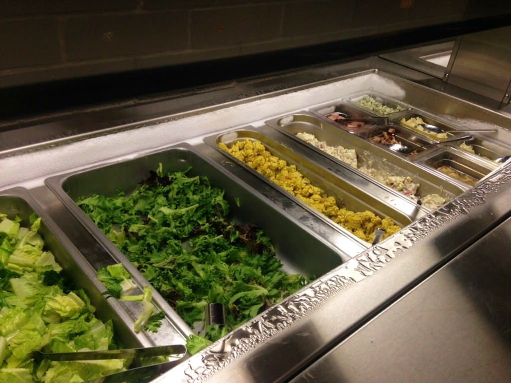 Giddy-Up Burgers and Greens salad bar
