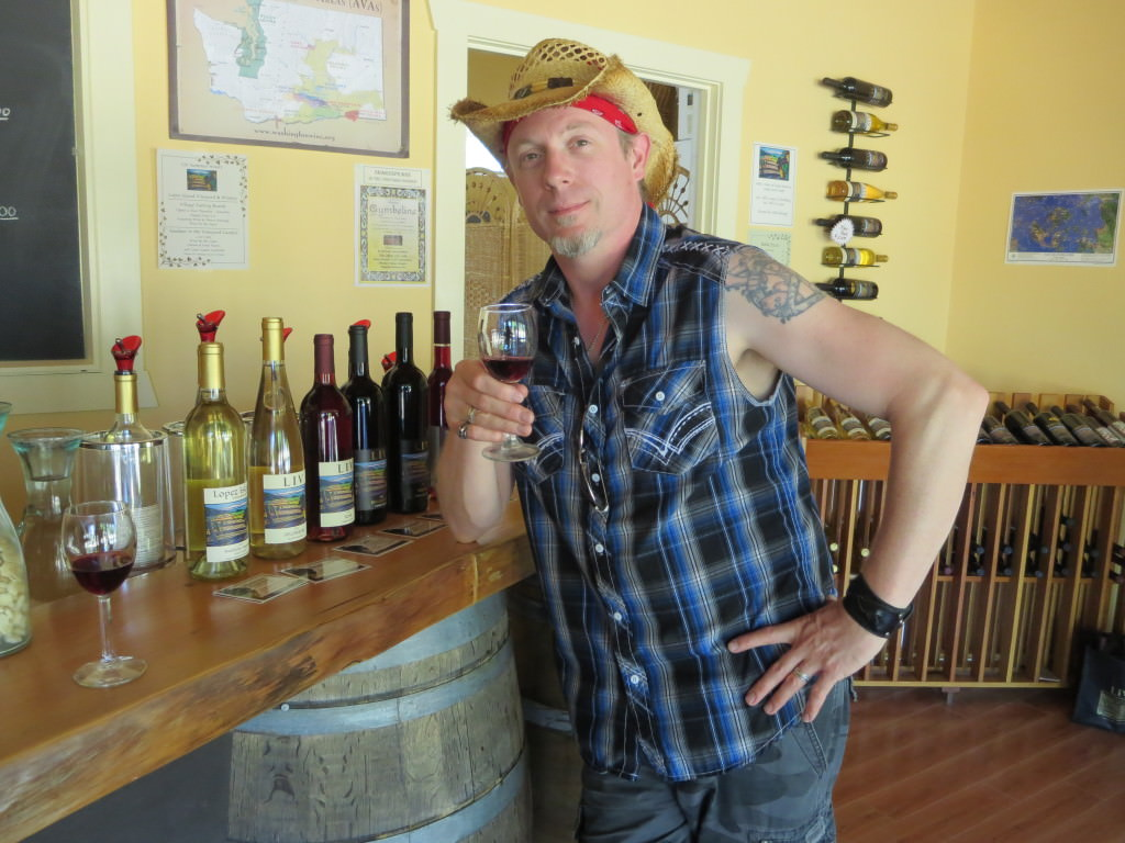 Wine tasting at Lopez Island Vineyards
