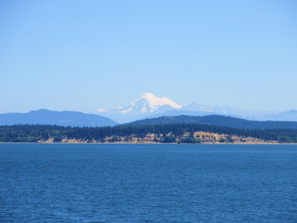 Mt Baker, viewed from the Lopez Island ferry