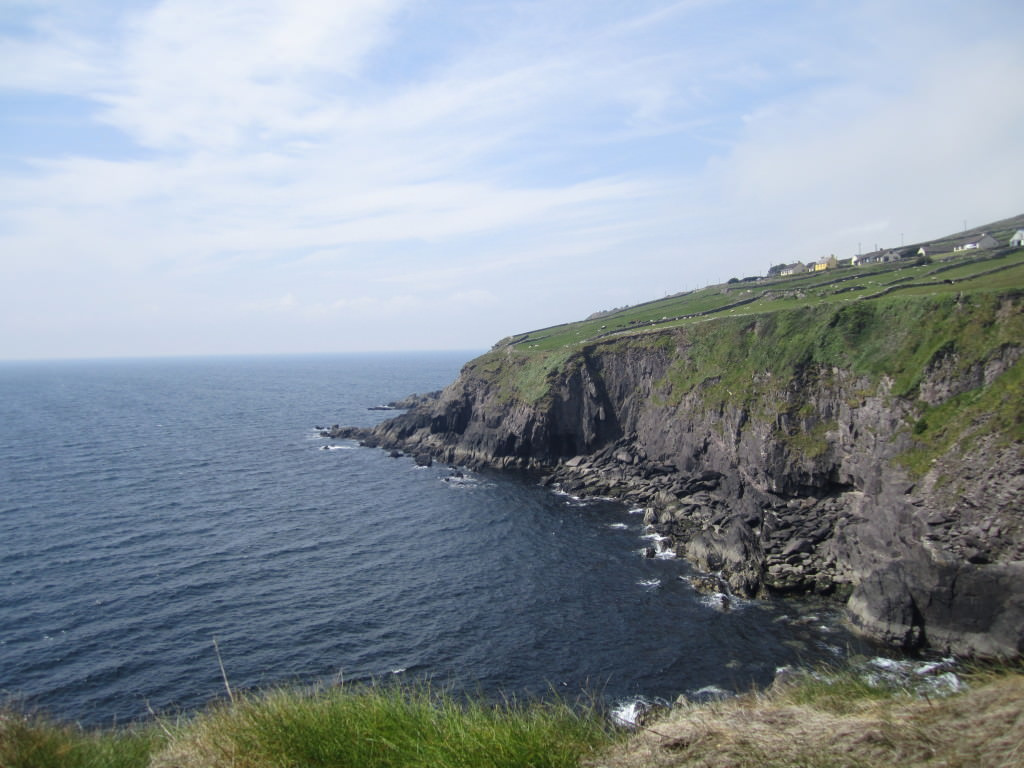 View of cliff from Dunbeg Fort, Dingle Peninsula