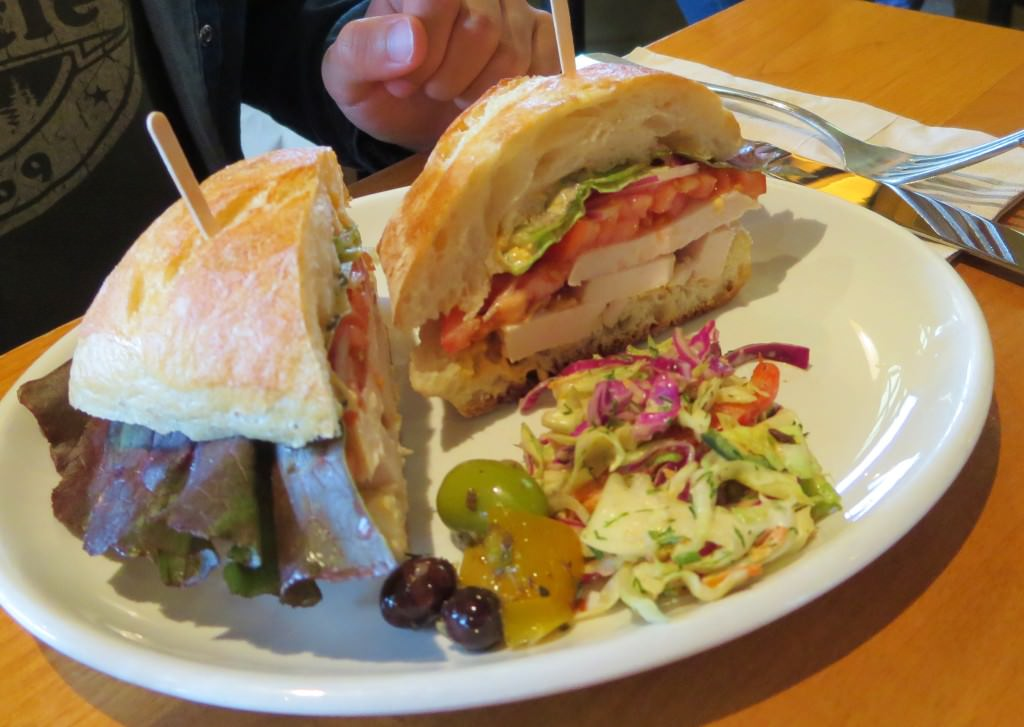 Mole chicken sandwich at Rose's Bakery Cafe