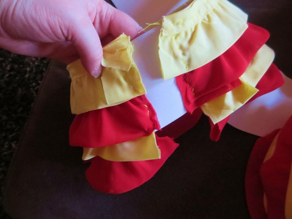 carmen miranda costume ruffle armbands