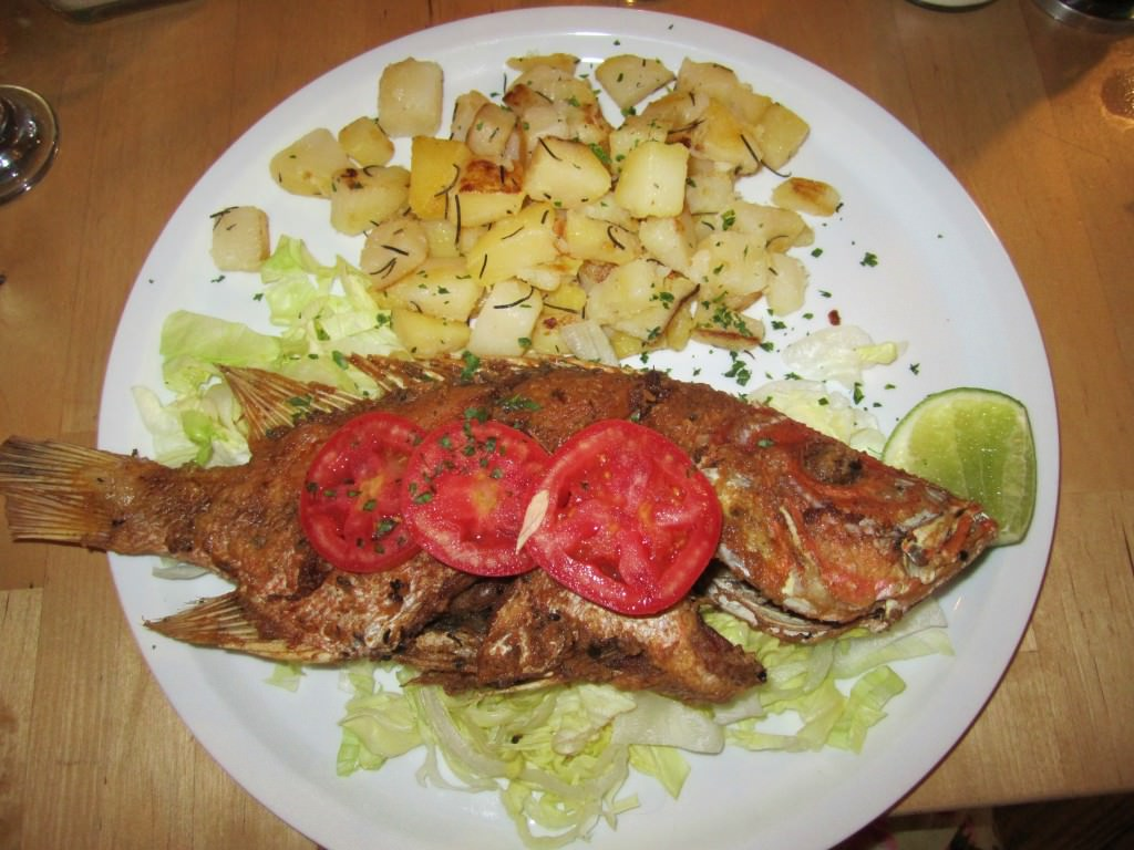 Fried fish chiky blu bayahibe