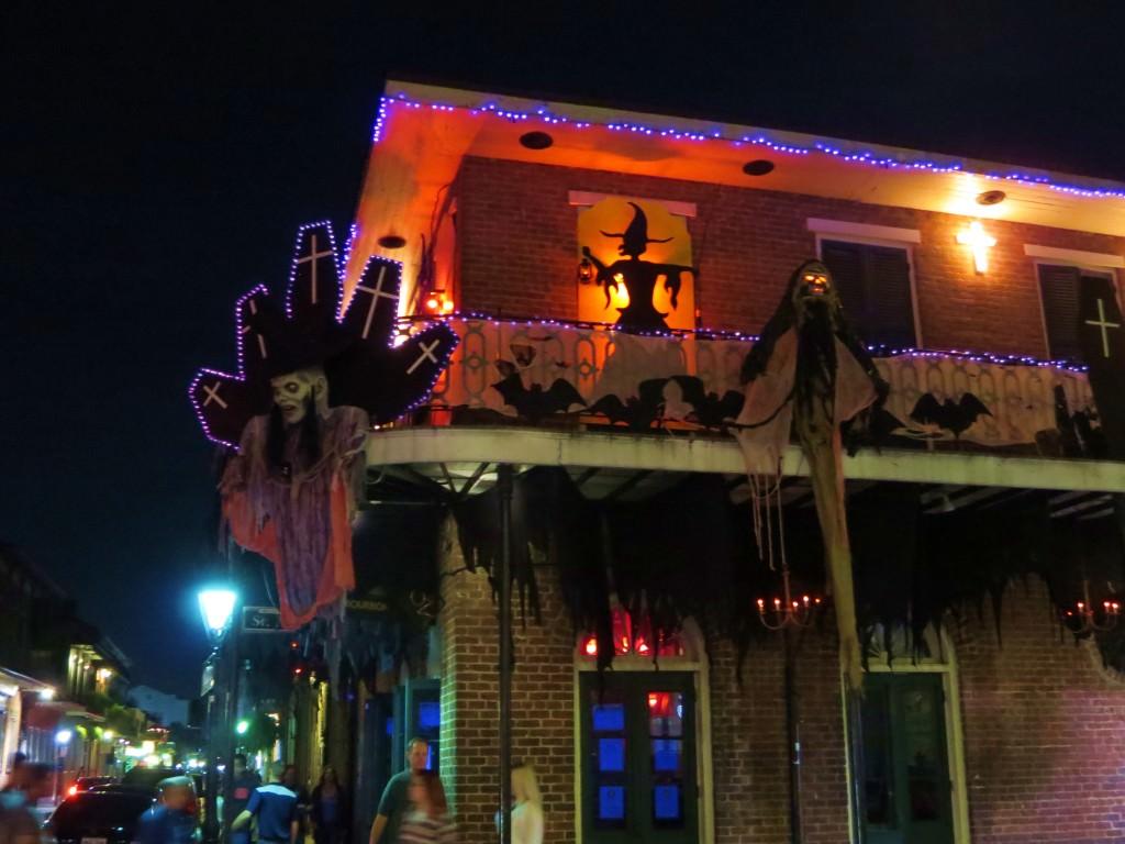 Bourbon Street Halloween in New Orleans
