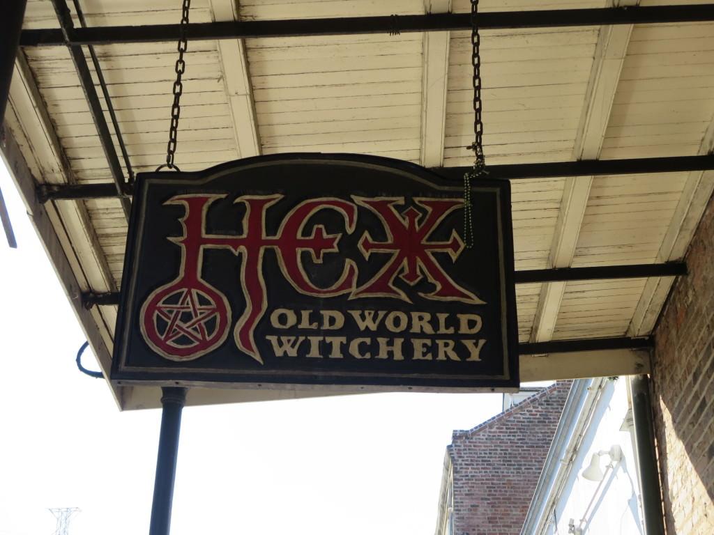 Witchcraft store on Decatur Street Halloween in New Orleans