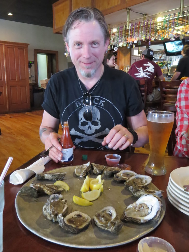 oysters at the French Market Cafe New Orleans