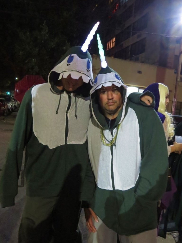 Narwhal costuems Halloween in New Orleans