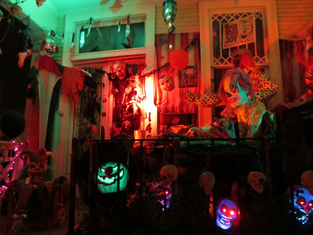 scary clown house Halloween in New Orleans