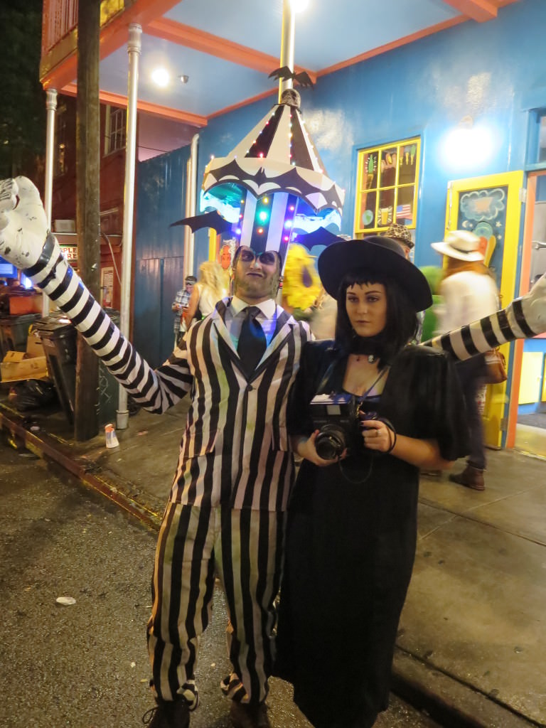 Halloween in New Orleans Beetlejuice and Lydia