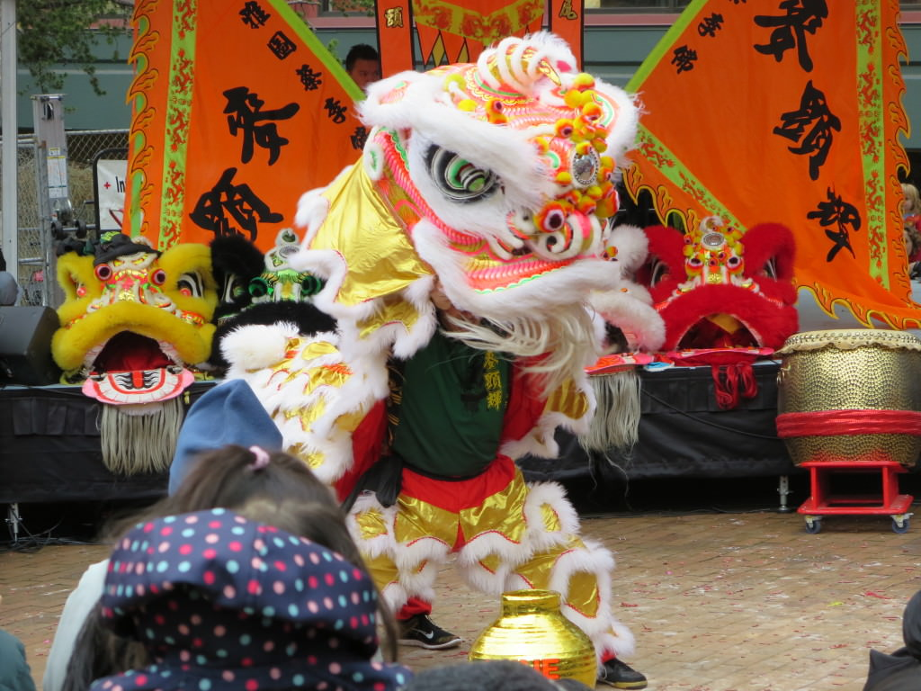 Lion Dance at Seattle Lunar New Year celebration