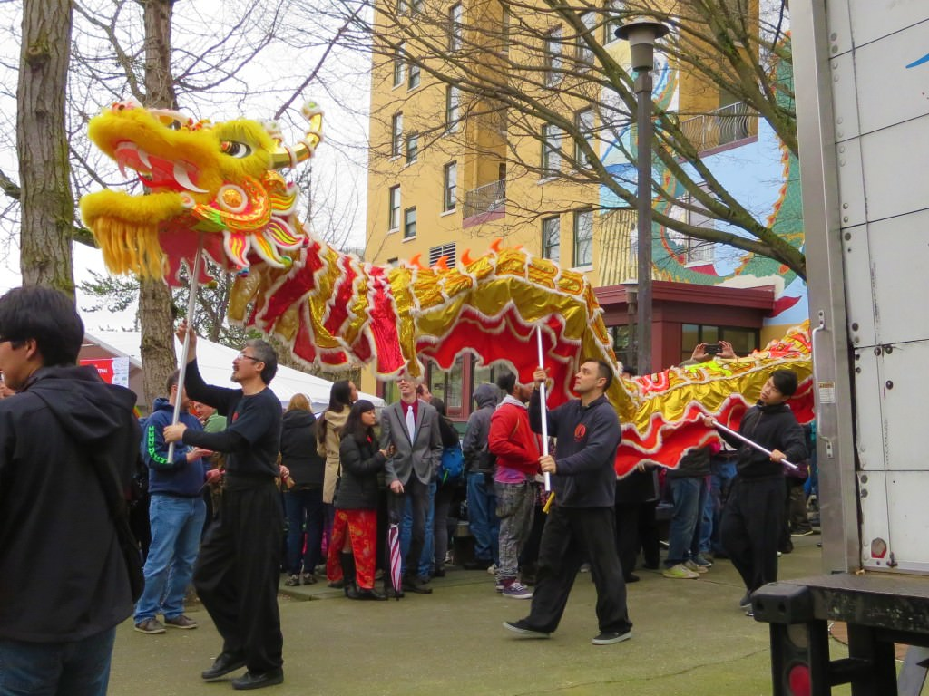 coping with travel fever Chinese dragon dance, Lunar New Year in Seattle