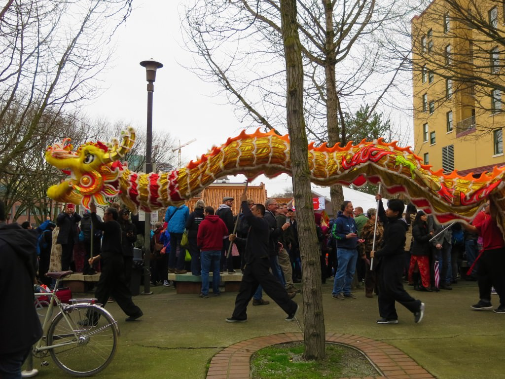 Chinese dragon dance, Lunar New Year in Seattle