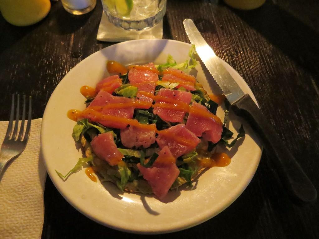 Tuna appetizer at El Pescado Ciego Cancun
