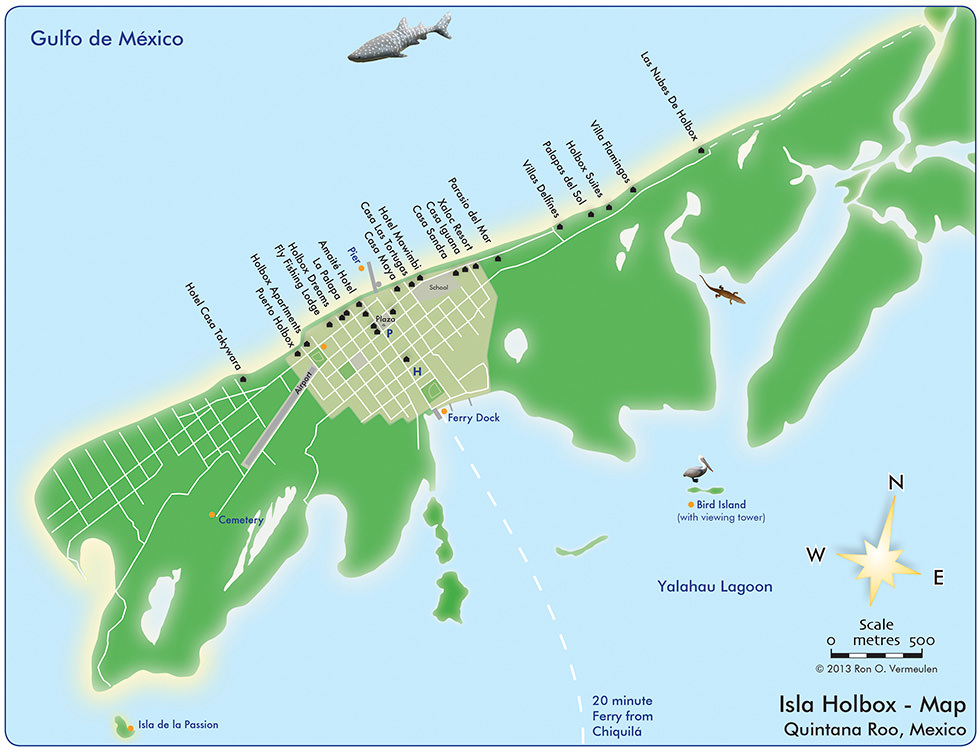 Isla Holbox Map Mexico