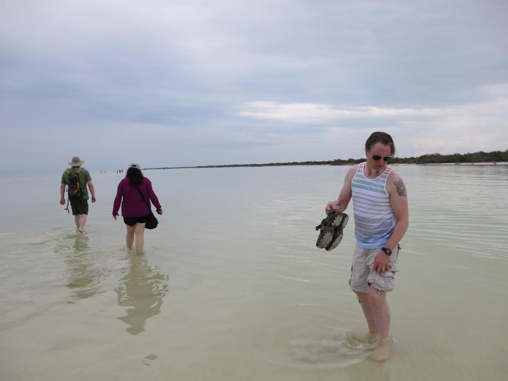 Shallow sand bar near Punta Mosquito Isla Holbox