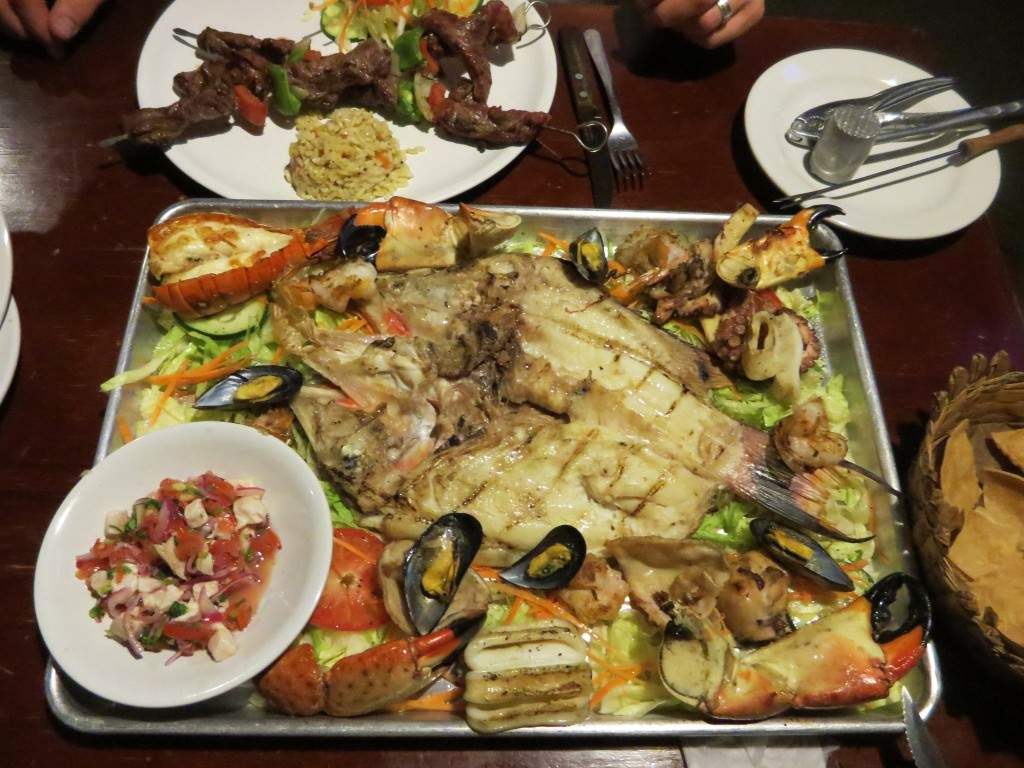Seafood grill platter for two at Viva Zapata isla holbox Mexico