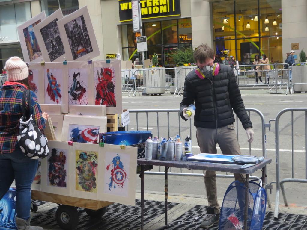 Artist near Times Square