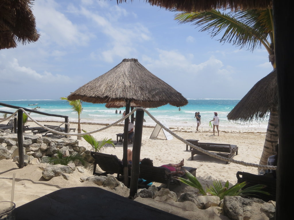 Tulum Beach in front of Hotel La Vita e Bella