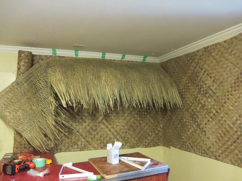 how to build a basement tiki lounge