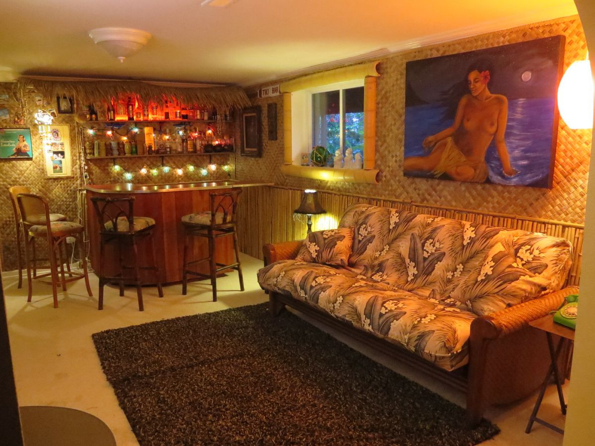 Building a basement tiki lounge for How to build a basement