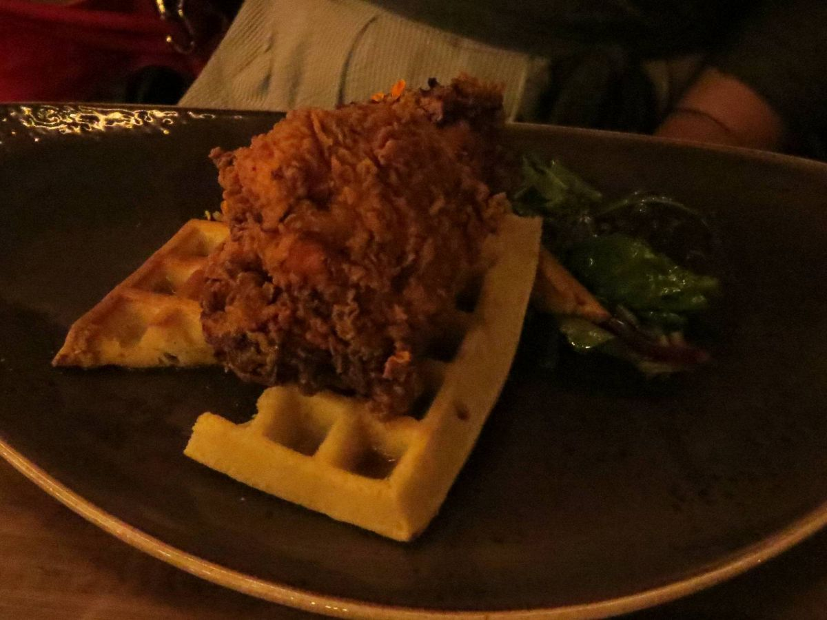 Buttermilk Fried Chicken & Waffles, Ox & Cart restaurant, Walla Walla