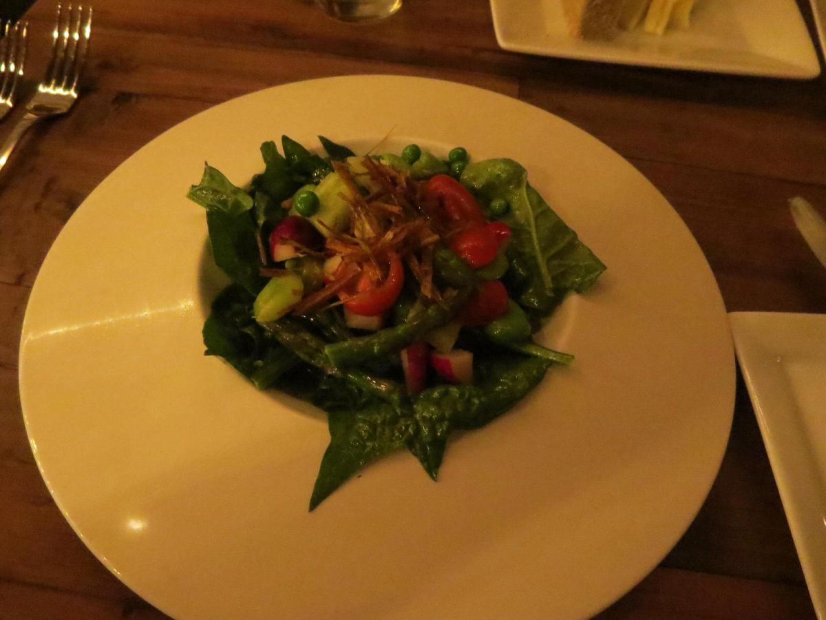 Spring's Bounty Salad, Ox & Cart restaurant, Walla Walla