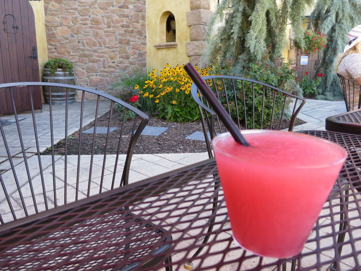 Wine slushie at Martinez & Martinez winery in Vintner's Village, Prosser
