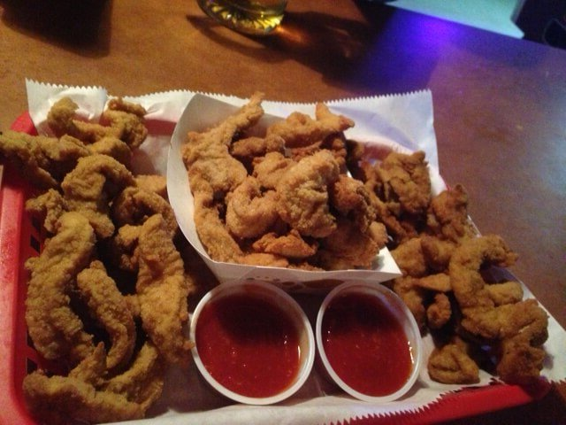 Rocky Mountain oysters at Bruce's Bar in Severance, CO: Buffalo, lamb, and beef