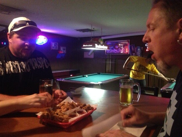 Rocky Mountain oysters at Bruce's Bar in Severance, CO