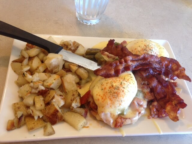 Hiker's Benedict at The Egg and I in Windsor, Colorado