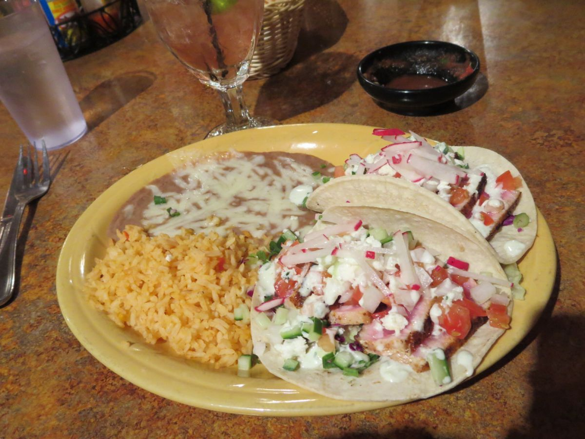 Seared ahi tacos at La Hacienda Mexican Restaurant, Moab