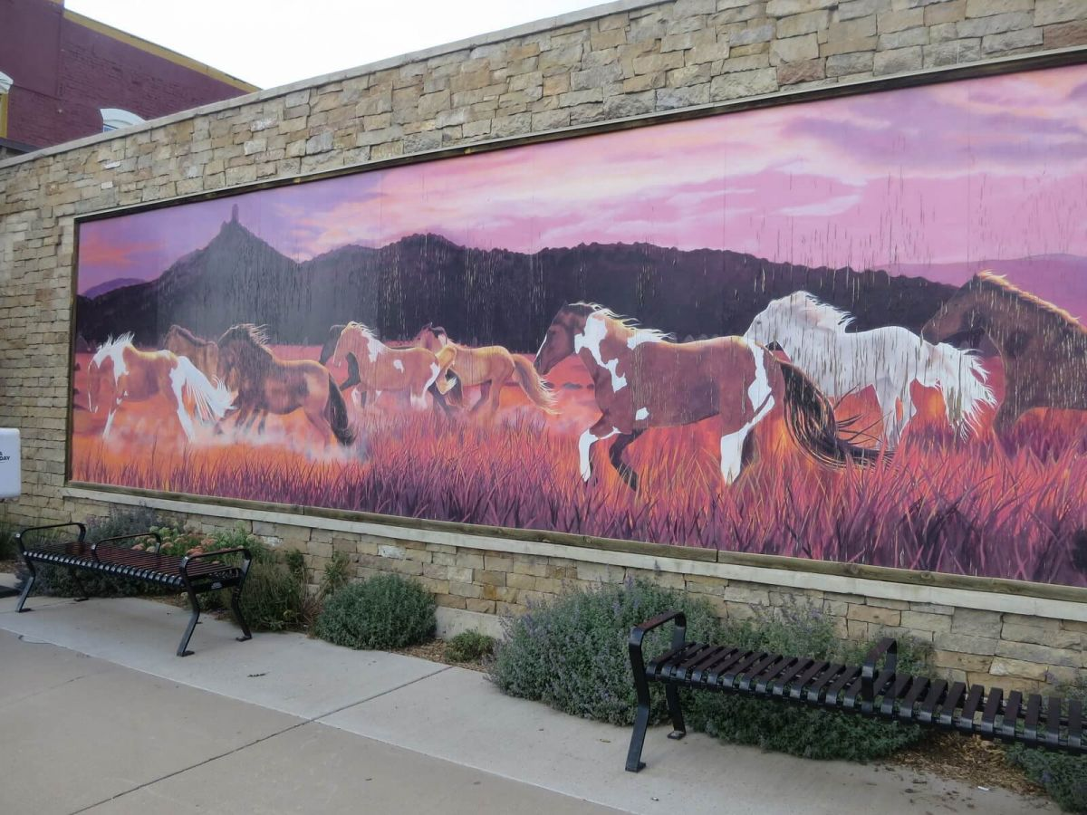 Mural in Pagosa Springs, Colorado